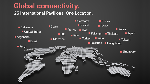 Beautyworld Middle East - 25 International Pavilions 1 Location