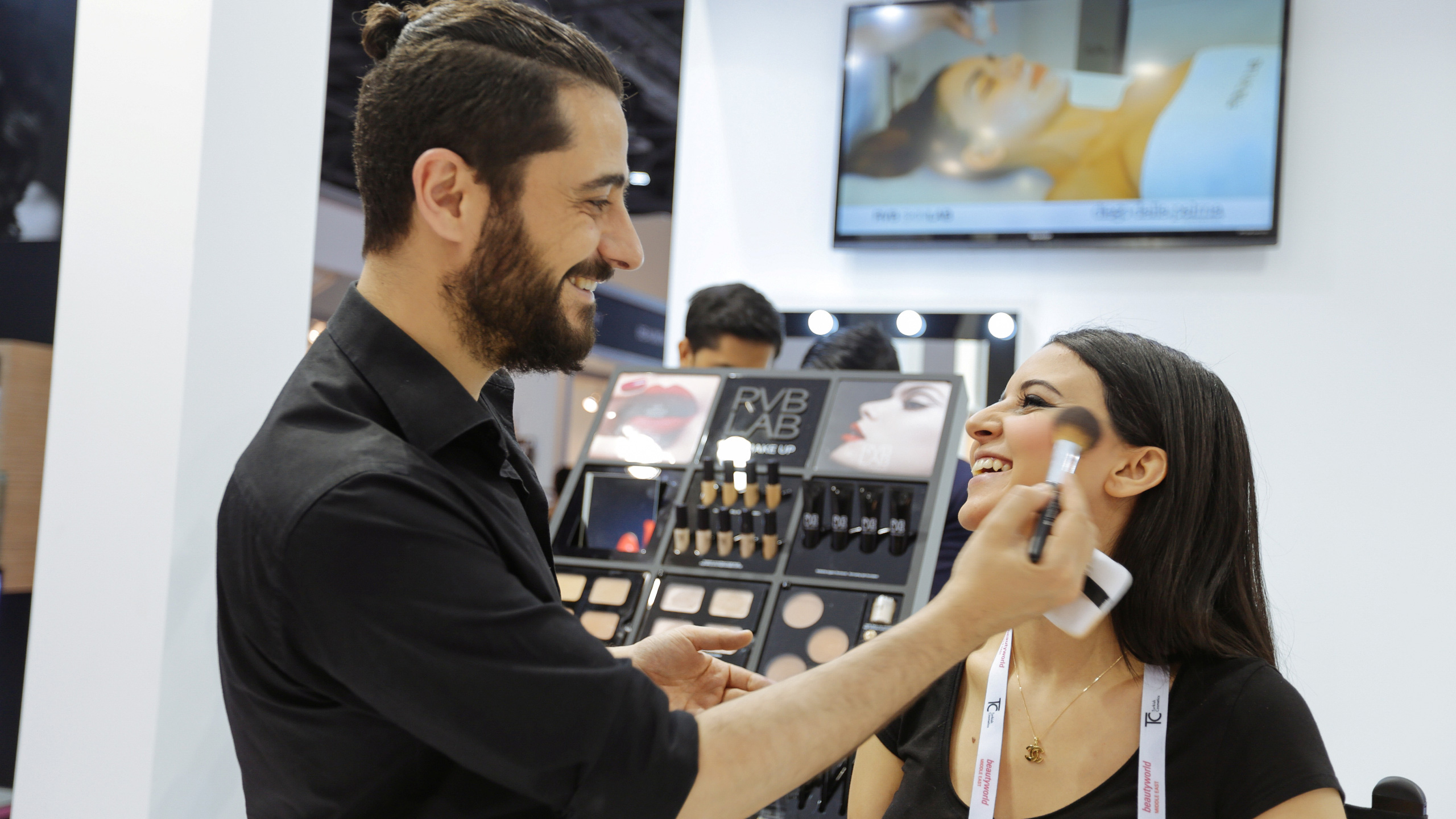 Beautyworld Middle East makeup demonstration