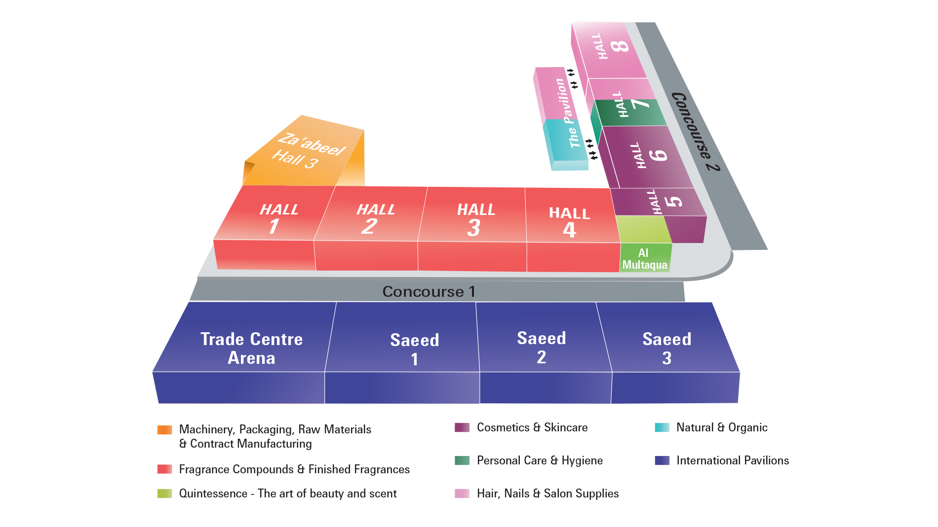 Beautyworld Middle East - Venue Map